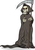 Ejemplo esquelético de la historieta de la muerte ilustración del vector