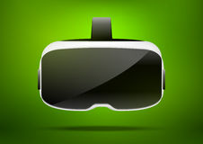 Ejemplo estereoscópico del vr 3d Tecnología digital virtual del ciberespacio del vector Dispositivo de la innovación Fotos de archivo