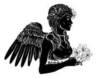 Ejemplo estilizado de la mujer del ángel Fotografía de archivo libre de regalías
