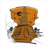 Ejemplo estilizado de una guitarra Imagenes de archivo