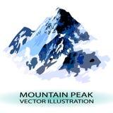 Ejemplo estilizado del pico de montaña del VECTOR Imágenes de archivo libres de regalías