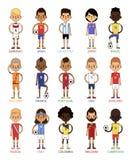 Ejemplo euro nacional del vector de los equipos de fútbol del fútbol de la taza Imagenes de archivo