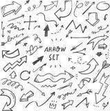 Ejemplo exhausto de las flechas de la mano ilustración del vector