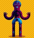 Ejemplo extraño de la criatura, pict moderno gráfico del cubismo libre illustration