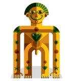 Ejemplo extraño del vector de la criatura, imagen moderna gráfica del cubismo stock de ilustración