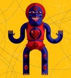 Ejemplo extraño del vector de la criatura, pict moderno gráfico del cubismo stock de ilustración