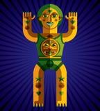 Ejemplo extraño del vector de la criatura, pict moderno gráfico del cubismo libre illustration