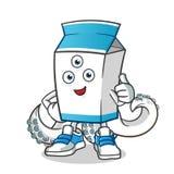 Ejemplo extranjero de la historieta del vector de la mascota de la leche libre illustration