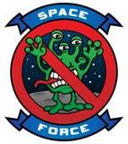 Ejemplo extranjero del vector de la historieta de la fuerza divertida del espacio ilustración del vector