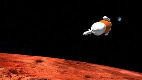 Ejemplo extremadamente detallado y realista de la alta resolución 3D de un sistema SLS Rocket del lanzamiento del espacio Tirado  ilustración del vector