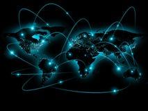 Ejemplo físico del mapa del mundo Elementos de esta imagen equipados por la NASA Imágenes de archivo libres de regalías