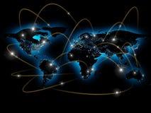Ejemplo físico del mapa del mundo Elementos de esta imagen equipados por la NASA Imagen de archivo