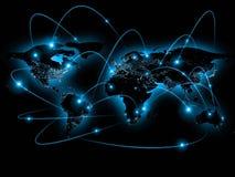 Ejemplo físico del mapa del mundo Elementos de esta imagen equipados por la NASA Fotografía de archivo