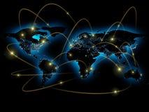 Ejemplo físico del mapa del mundo Elementos de esta imagen equipados por la NASA Fotos de archivo libres de regalías