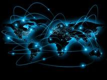 Ejemplo físico del mapa del mundo Elementos de esta imagen equipados por la NASA Imagenes de archivo