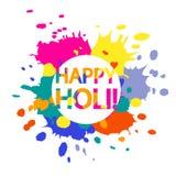 Ejemplo feliz de Holi Imagenes de archivo