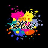 Ejemplo feliz de Holi Imagen de archivo