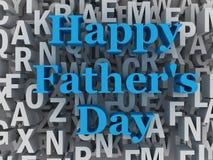 ejemplo feliz del concepto del día del ` s del padre 3d fotografía de archivo