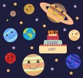 Ejemplo feliz del Día de la Tierra Foto de archivo libre de regalías
