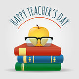 Ejemplo feliz del día de los profesores libre illustration