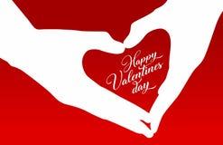 Ejemplo feliz del día de tarjetas del día de San Valentín libre illustration