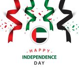 Ejemplo feliz del diseño de la plantilla del vector del Día de la Independencia de los UAE libre illustration