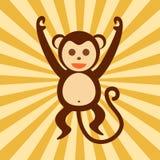 Ejemplo feliz del gráfico de vector de la acción del mono Fotos de archivo libres de regalías