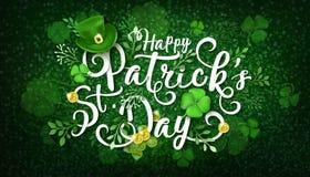 Ejemplo feliz del vector del día de St Patrick s ilustración del vector