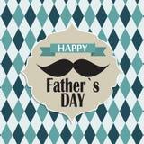 Ejemplo feliz del vector de la tarjeta del cartel del día del ` s del padre ilustración del vector