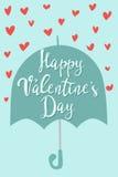 Ejemplo feliz del vector de las tarjetas de felicitación del día de tarjetas del día de San Valentín Imágenes de archivo libres de regalías