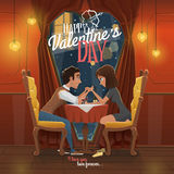 Ejemplo feliz del vector del día de tarjetas del día de San Valentín Fotos de archivo