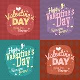 Ejemplo feliz del vector del día de tarjetas del día de San Valentín Fotografía de archivo