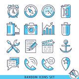 Ejemplo fijado iconos al azar del vector Libre Illustration