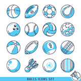 Ejemplo fijado iconos del vector de las bolas Ilustración del Vector