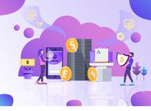 Ejemplo financiero del vector de la oficina del negocio libre illustration