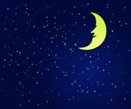 Ejemplo fino de un cielo nocturno imágenes de archivo libres de regalías