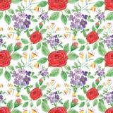 Ejemplo floral colorido de la acuarela Foto de archivo