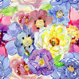 Ejemplo floral de la acuarela Elemento decorativo floral Fotos de archivo