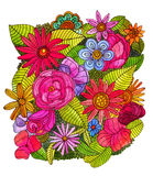 Ejemplo floral del bosque Foto de archivo libre de regalías