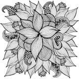 Ejemplo floral del garabato Tarjeta de felicitación Ilustración del vector Foto de archivo