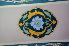 Ejemplo floral del modelo del arte del tiempo del otomano Foto de archivo