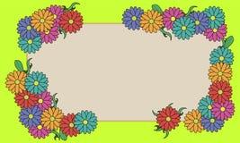 Ejemplo floral del vector del marco Imagen de archivo