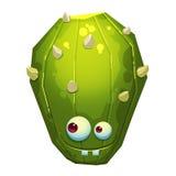 Ejemplo: Forest Green Cactus Monster fantástico aislado en el fondo blanco realista Imágenes de archivo libres de regalías