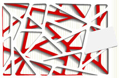 Ejemplo fotorrealista de un decoupage de papel Imagen de archivo