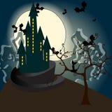 Ejemplo frecuentado Halloween lindo del castillo libre illustration