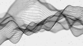 Ejemplo futurista abstracto Tecnolog?a de los datos Puntos y l?neas de conexi?n en el fondo blanco Visualizaci?n grande de los da stock de ilustración