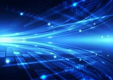 Ejemplo futuro del fondo de la tecnología de Internet del vector abstracto Fotografía de archivo libre de regalías