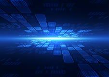 Ejemplo futuro del fondo de la tecnología de la velocidad abstracta del vector Fotografía de archivo