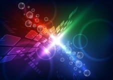 Ejemplo futuro del fondo de la tecnología de las telecomunicaciones del vector abstracto stock de ilustración