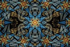 ejemplo generado por ordenador 3d del fondo florido único multicolor de las ilustraciones de los fractales ilustración del vector